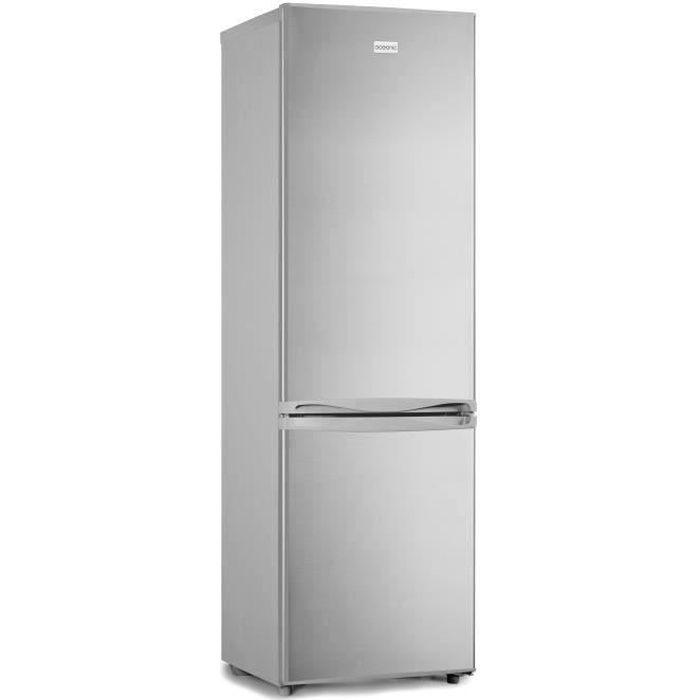 OCEANIC Réfrigérateur congélateur bas 262L, Low Frost Silver, L 54 cm x H 176 cm