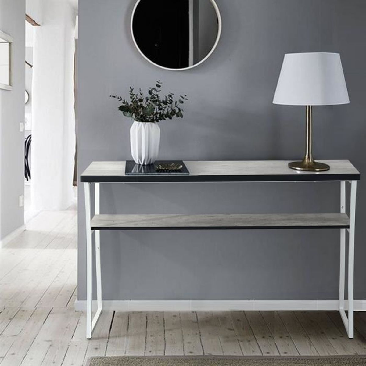console blanche achat vente console blanche pas cher. Black Bedroom Furniture Sets. Home Design Ideas