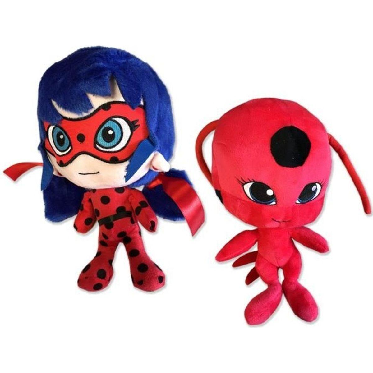 Peluche Miraculous Ladybug Chat Noir 20 cm au choix