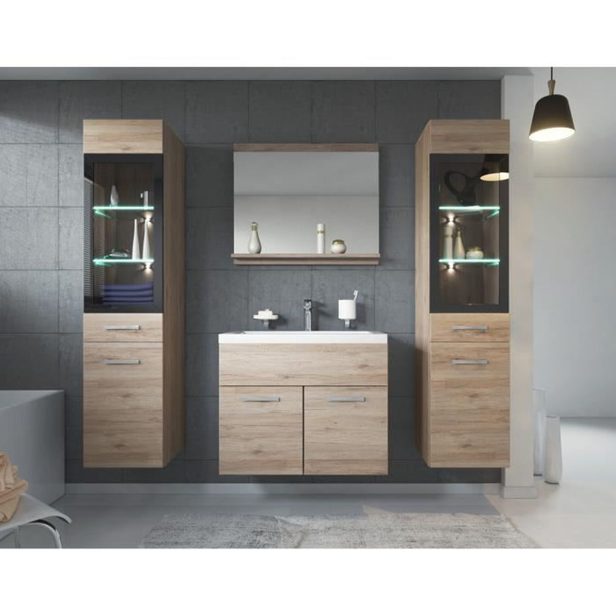 meuble salle de bain sans vasque achat vente meuble. Black Bedroom Furniture Sets. Home Design Ideas