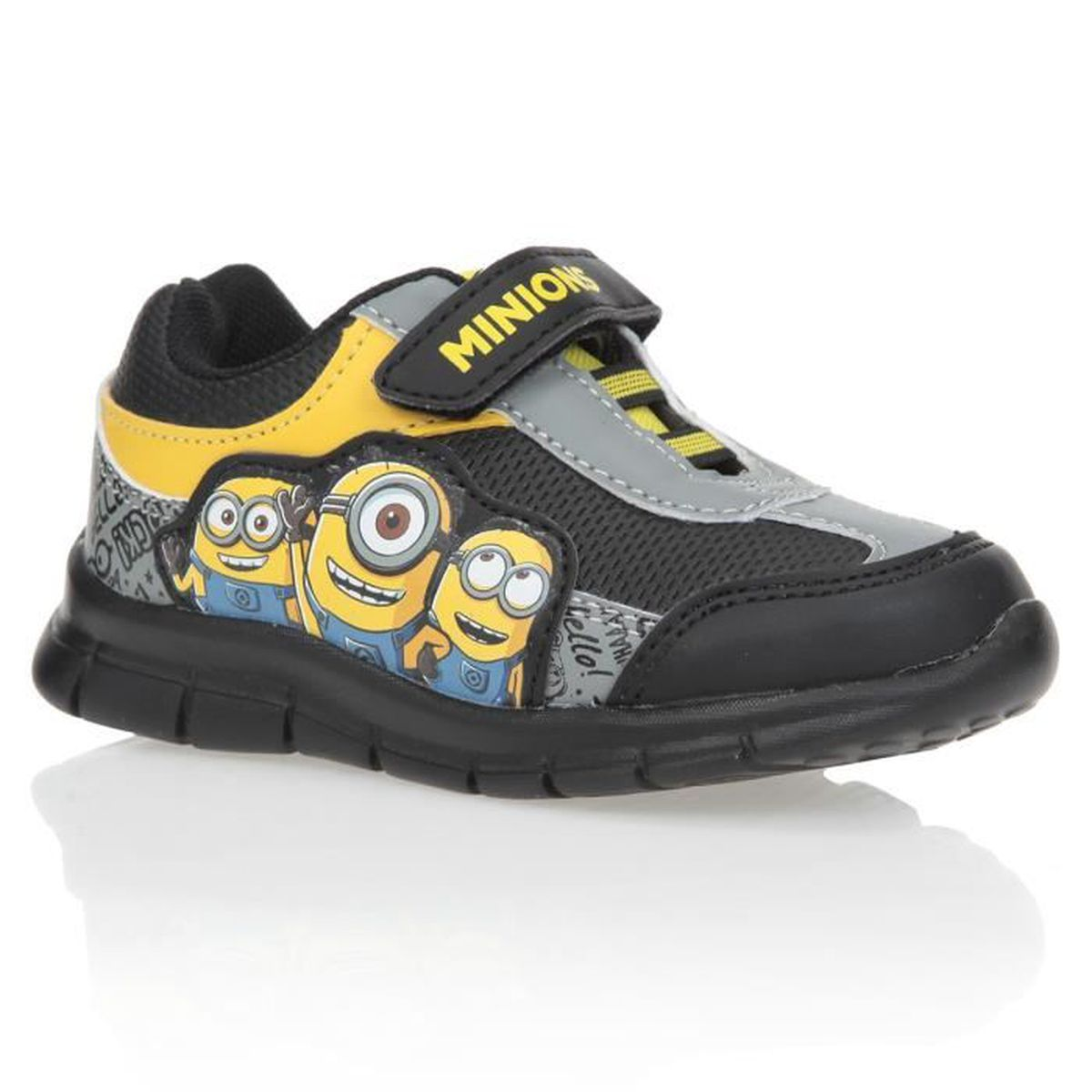 les minions baskets chaussures enfant gar on achat vente basket cdiscount. Black Bedroom Furniture Sets. Home Design Ideas