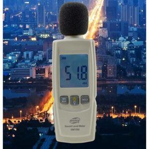Sonomètre decibelmetre Meterk 30-130dBA Décibelmètre professionnel 31.5-8KHz ...