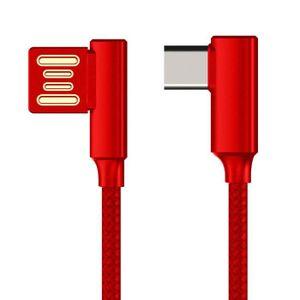 CÂBLE D'ALIMENTATION Câble USB Type-C double coude 1,2 m rouge