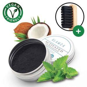 SOIN BLANCHIMENT DENTS Poudre de charbon végétal 15g Glamza® + Brosse a d