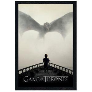 AFFICHE - POSTER Maxi Poster 61 x 91,5 cm cadre en bois noir A Lion