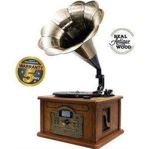 PLATINE VINYLE Lauson Rétro Bluetooth Gramophone avec Fonction d'
