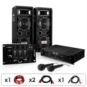 AMPLIFICATEUR HIFI SET DJ PA Sono Ampli Mixer Enceintes Micro 1200W