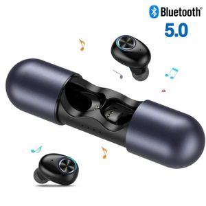 CASQUE - ÉCOUTEURS HolyHigh Écouteurs Bluetooth 5.0 sans Fil 15H Play