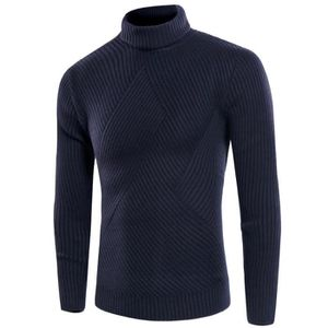 b8fc219a80a1 PULL Pull en maille homme mode col roulé manches longue