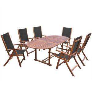 x 100 x 74 cm Tidyard Table de Salle /à Manger Extensible en Bois Dur d/'Acacia Style Naturel 150-200