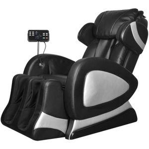 FAUTEUIL vidaXL Fauteuil de massage électrique Noir Cuir ar