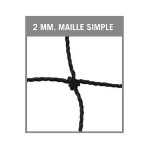 FILET VOLLEY-BALL Filet volleyball -cable acier-Maille simple de 100