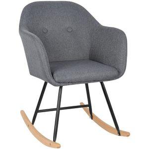FAUTEUIL WOLTU Fauteuil à bascule en lin, Chaise à bascule,