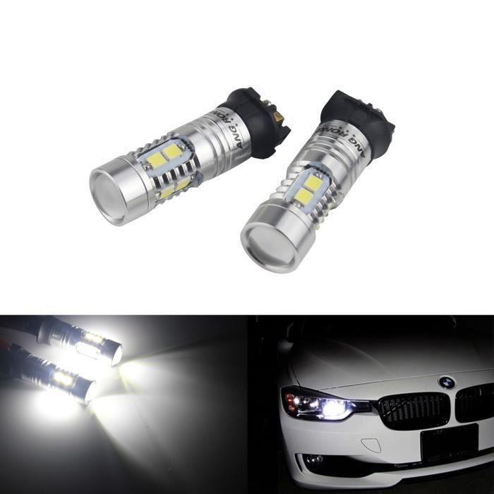 2 Ampoule PW24W LED d'éclairage diurne DRL Blanc Pour BMW Série 3 F30 F31 F34 Audi A3 8V A4 A5 Q3 Citroën C4 Peugeot 208