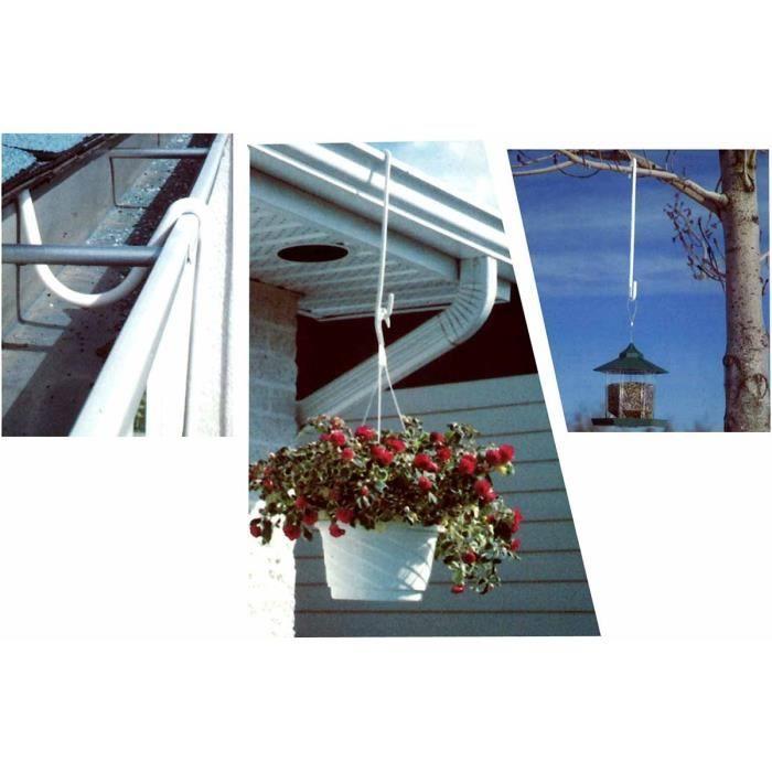 Crochet de suspension pour jardinière - Lot de 2 - Astuceo Gris Clair