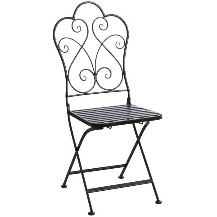 Chaise de terrasse pliante marron