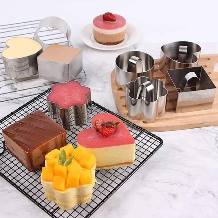 Moule à gâteau d'acier inoxydable d'outils de cuisson avec l'outil de moule de coupe de sushi de plaque de poussée i694