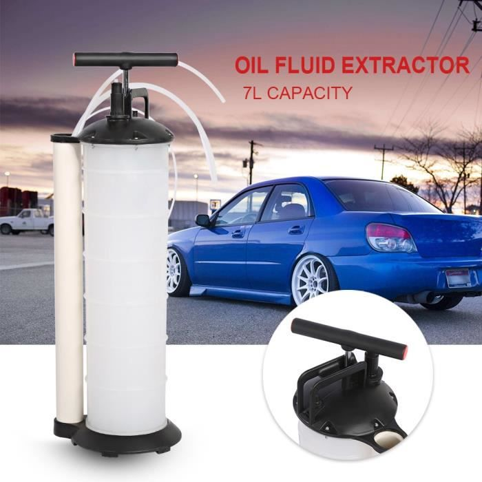 Pompe d aspiration de liquide vidange huile moteur 7L Aspiration Déchets D'huile Pompe Vide D'extraction Transfert HB042 -LEC