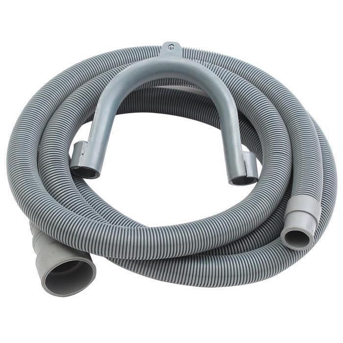 Tuyau de Lavage de Rallonge de Tuyau de Vidange pour Lave-Vaisselle de 2,5 M avec Support WOW17962