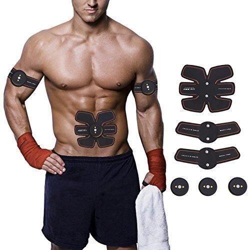 ISE Smart Appareil Abdominaux Musculation Electrostimulateur Sans Fil pour Tonifier des Muscles &amp Minceur Masseur Automatique