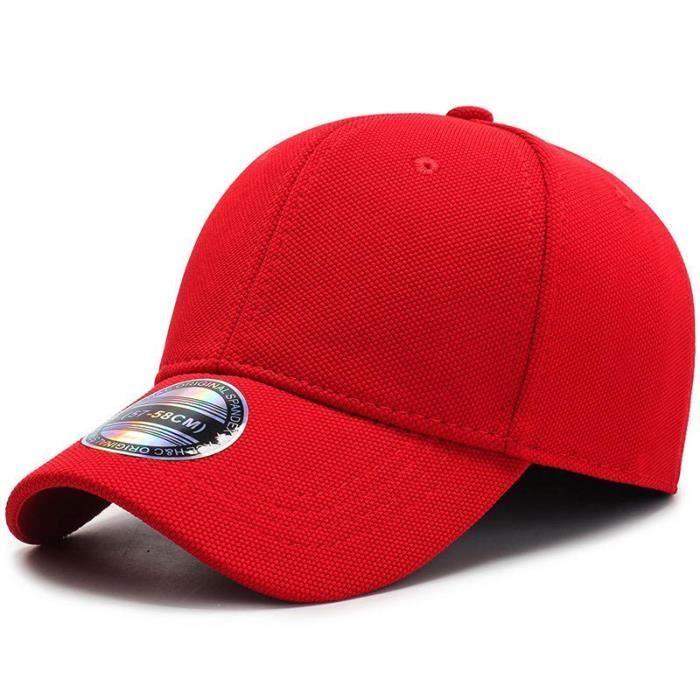 COKK Casquette de Baseball hommes casquettes casquettes hommes ajusté fermé Casquette complète femme Red hat size 57-58cm