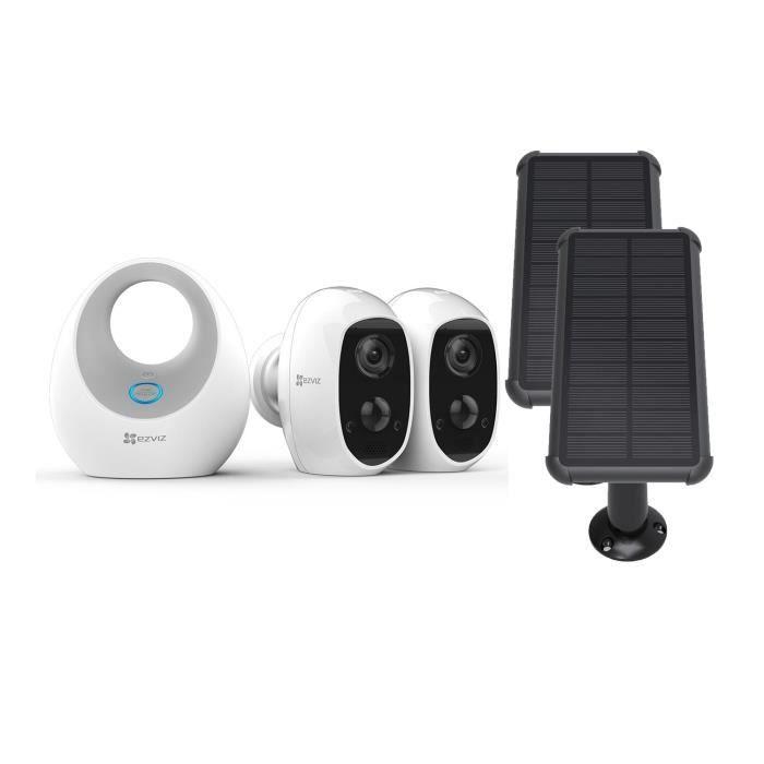Ezviz - Pack 2 caméras C3A + Base + panneau solaire