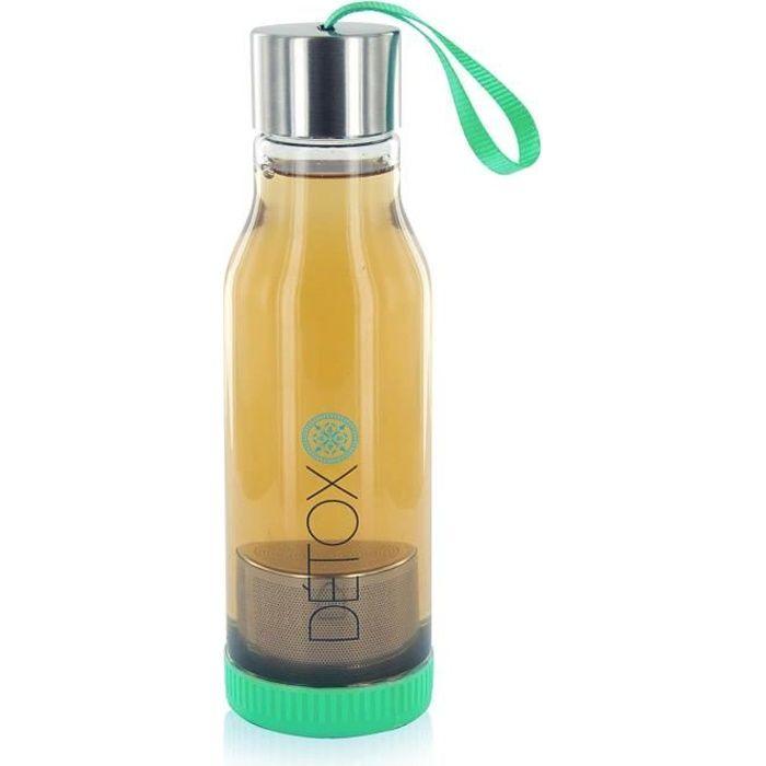 Bouteille Détox Infuseur à Thé 500 ml - Vert
