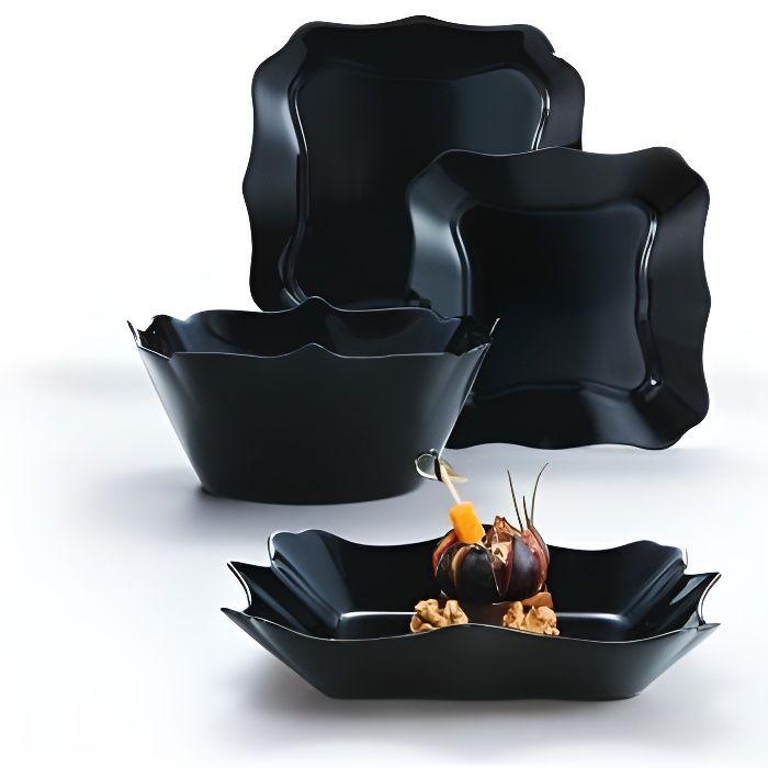 Service de table en verre 19 pièces - Authentic noir - Luminarc Noir
