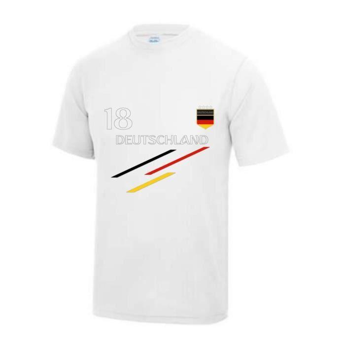 Maillot de Foot Allemagne homme Taille XS au 5 XL (XS - blanc)