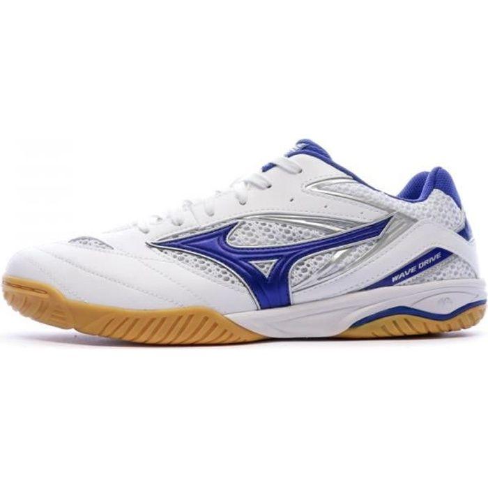 Chaussures de tennis de table blanc/bleu homme Mizuno Wave Drive 8