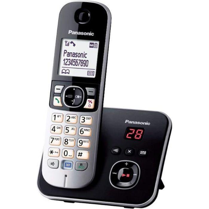 Téléphone sans fil Panasonic KX-TG6821 Noir Répondeur Solo