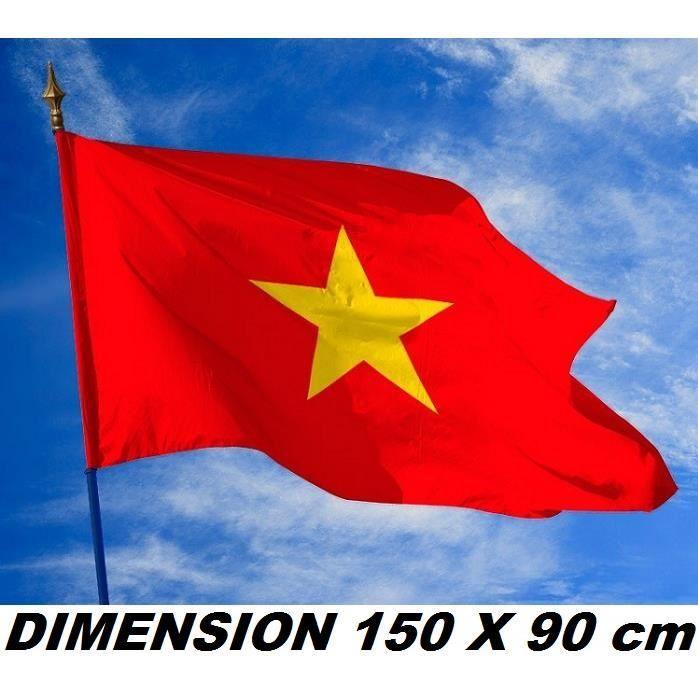 DRAPEAU 150 X 90 cm VIETNAM VIETNAMIEN No écharpe maillot fanion casquette ...