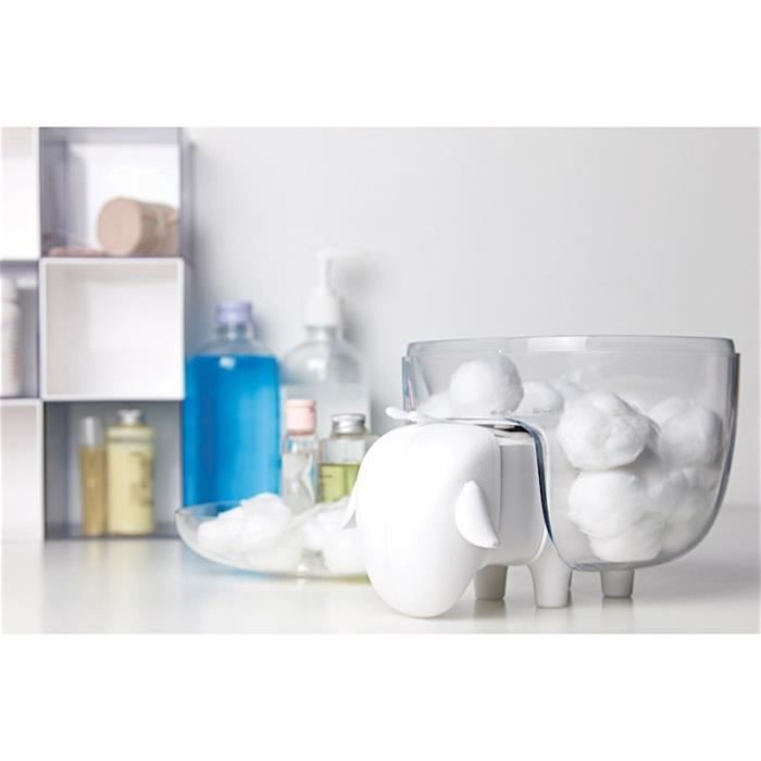Boîte à Coton Mouton Blanc/Transparent Transparent,Blanc