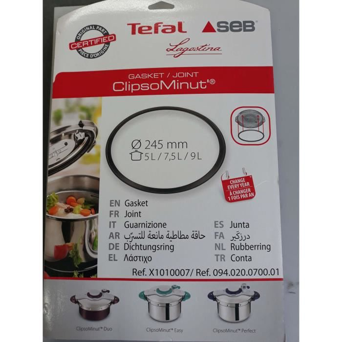 JOINT DE COCOTTE CLIPSO MINUTE 5L/7.5L/9L DIAMETRE 245MM ,X1010007