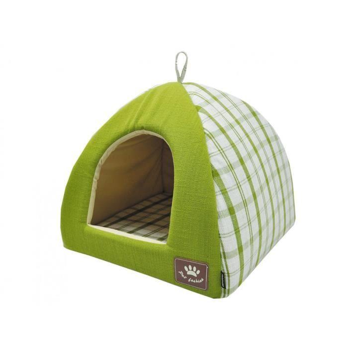 Tipi Checker vert 40x40x35cm
