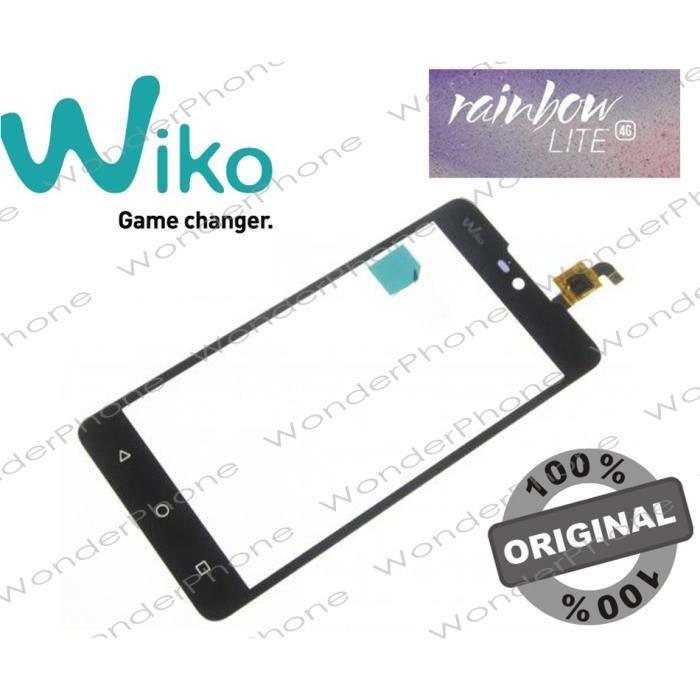 Vitre Tactile Wiko Rainbow Lite 4G Noir GARANTIE 100% Original WIKO France