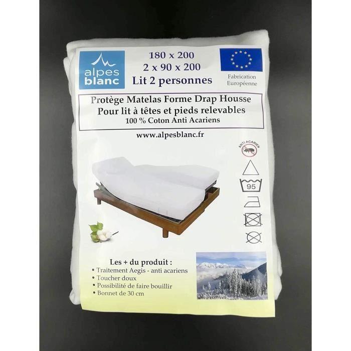 Protege Matelas Pour Lit Articule 2x70x190 Achat Vente Pas Cher