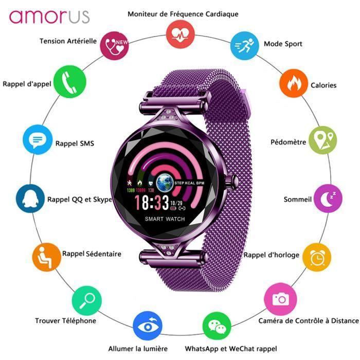 MONTRE CONNECTÉE Montre Connectée, Smartwatch Femme pour Android iO