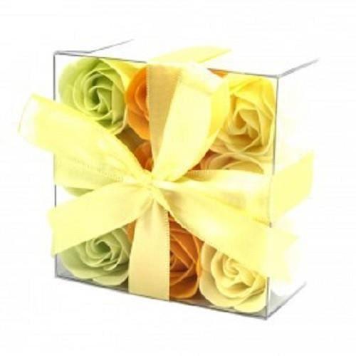 SAVON - SYNDETS Lot de 9 Roses de Savon - Rose du Printemps