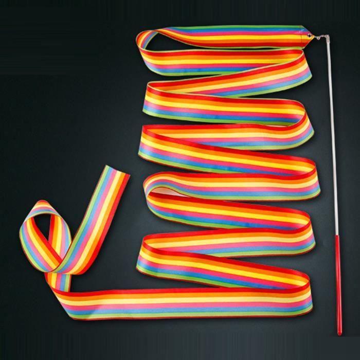 JieGuanG Lot de 2 rubans de gymnastique rythmique pour enfants