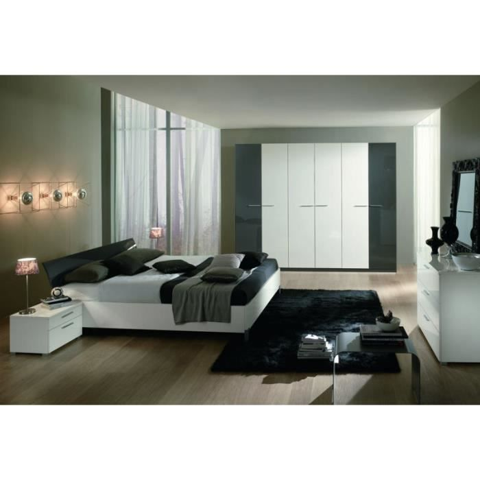 Chambre coucher moderne 160x200 doroth e meuble house for Achat chambre a coucher