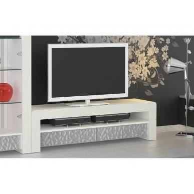 meuble t l vittro 160x47cm coloris blanc patin avec. Black Bedroom Furniture Sets. Home Design Ideas