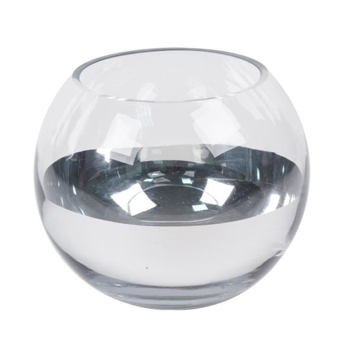 comingb vase boule demi chrome gm achat vente vase. Black Bedroom Furniture Sets. Home Design Ideas