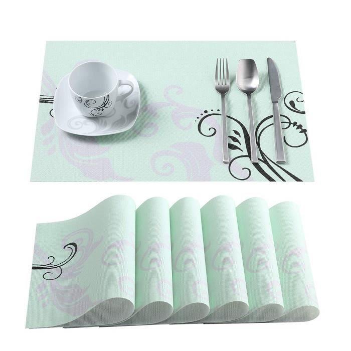 SET DE TABLE VEWEET, série Bonnie, Sets de Table, 6 pièces, en
