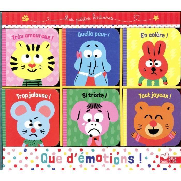 LIVRE 0-3 ANS ÉVEIL Livre - que d'émotions ! ; coffret 6 petits livres