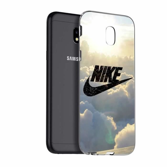 coque pour samsung galaxy j3 2017 sm j330f sky nike design souple tpu silicone achat coque. Black Bedroom Furniture Sets. Home Design Ideas