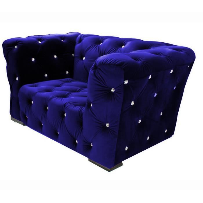 fauteuil royalfield bleu chesterfield design achat vente fauteuil cdiscount. Black Bedroom Furniture Sets. Home Design Ideas