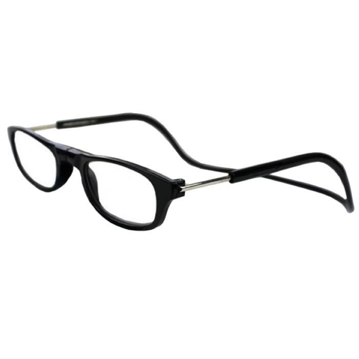 16c25d2bb9c Hicollie® +2.0 Noir Lunette De Lecture Anti-Fatigue Loupe Radiation  Protection Presbytie Aimant Léger
