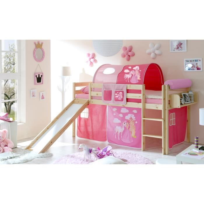 lit toboggan princesse achat vente lit toboggan princesse pas cher cdiscount. Black Bedroom Furniture Sets. Home Design Ideas