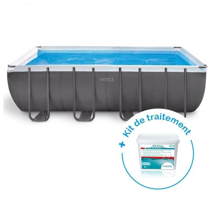 PISCINE Pack Piscine tubulaire Intex Ultra Silver 4.57 x 2